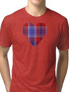 00501 A J Gallacher Tartan  Tri-blend T-Shirt