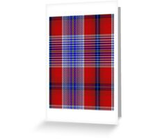 00501 A J Gallacher Tartan  Greeting Card