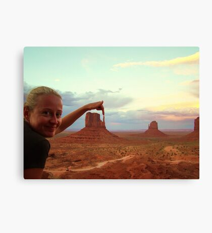Touching the nature - Monument Valley Canvas Print