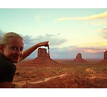 Touching the nature - Monument Valley Photographic Print