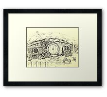 Somewhere in the Shire Framed Print