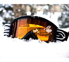 Goggles in the Snow Photographic Print