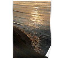 Pacific Ocean Golden Sunset Poster