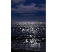 Ocean in dark blue mood Photographic Print