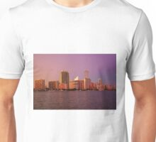 Miami Florida, colourful sunset panorama of downtown business and residential buildings Unisex T-Shirt