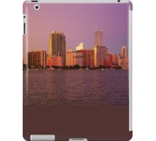 Miami Florida, colourful sunset panorama of downtown business and residential buildings iPad Case/Skin