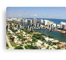 Golden Girls Title TV w/Stripes Canvas Print