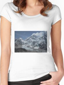 Mount Everest from Kala Patar Women's Fitted Scoop T-Shirt