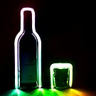 Rainbow Bottle and Glass by Reza G Hassani