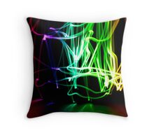 Rainbow Scribble #2 Throw Pillow