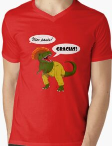 Pantelonesaurus Mens V-Neck T-Shirt