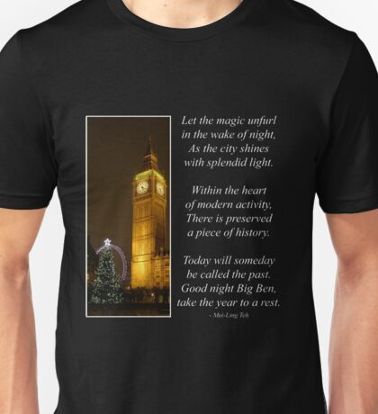 Big Ben ticks Goodnight Unisex T-Shirt