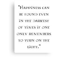 Albus Dumbledore - quote Canvas Print