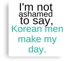 Korean Men Canvas Print