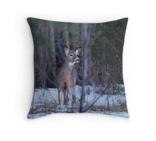 Young Doe in the Bush Throw Pillow
