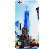World Trade Watercolor iPhone Case/Skin