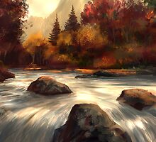 Autumn Stream  by twhiteart