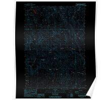 USGS Topo Map Oregon Tub Mountain 281882 1988 24000 Inverted Poster