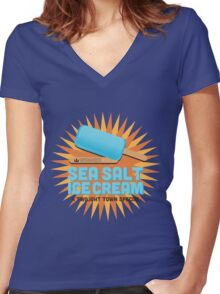 Sea Salt Ice Cream Women's Fitted V-Neck T-Shirt