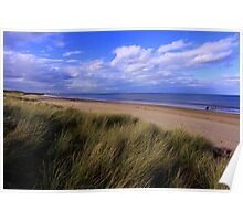 Salty Dreams and Sand Dunes : Marske on Sea, North Yorkshire, England Poster
