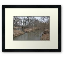 Another Parker City Stream  Framed Print