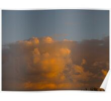 Exclamation Clouds Poster