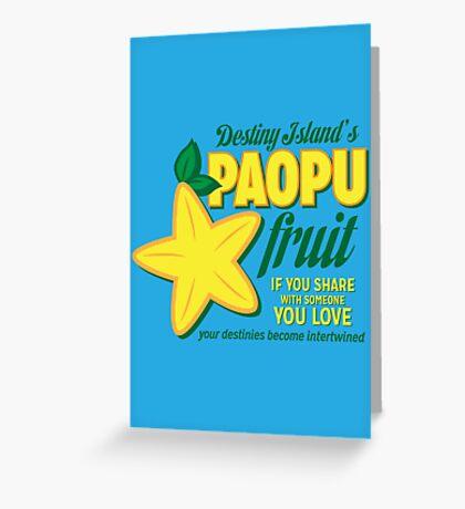 Paopu Fruit - Kingdom Hearts Greeting Card
