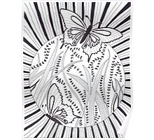 Butterfly Silhouettes Poster
