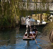 Punting on the River Avon, Christchurch NZ by Odille Esmonde-Morgan