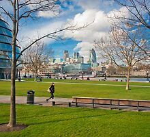 The City of London from the Southbank of the Thames. by DonDavisUK