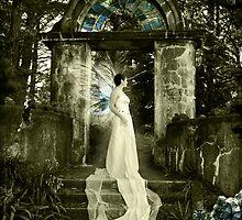 Blue Crystal Winged Fae by Melanie Moor