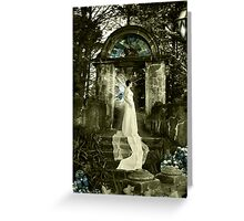 Blue Crystal Winged Fae Greeting Card