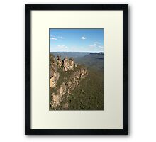Blue Mountains with Three Sisters Framed Print