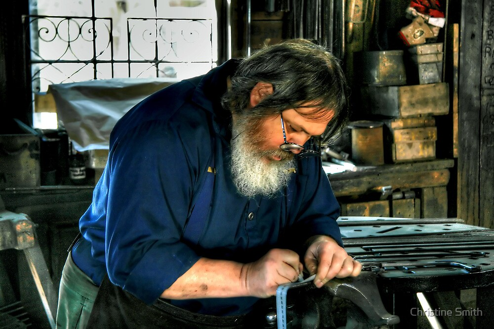 The Blacksmith at Work by Christine Smith