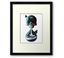 Until dawn - skull and butterflies Framed Print