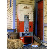 Old Coke machine Photographic Print