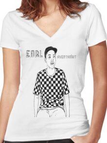 Earl Sweatshirt Women's Fitted V-Neck T-Shirt