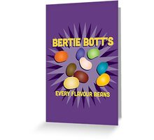 Bertie Bott's Every Flavour Beans - Harry Potter Greeting Card
