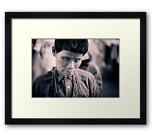 Trapped in a Struggled Body Framed Print