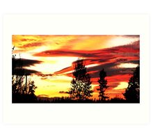 Mukilteo Sunset Art Print