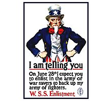 Uncle Sam -- I Am Telling You Photographic Print