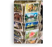 post cards on sales Canvas Print