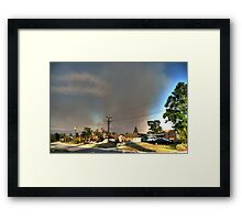 Black Sunday Smoke Framed Print