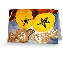 paw paw and clay birds Greeting Card