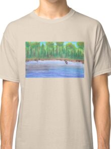 Finnish lakeview vector Classic T-Shirt