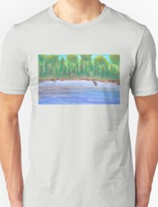 Finnish lakeview vector Unisex T-Shirt