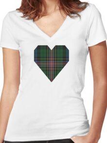 00503 Allison (MacBean & Bishop) Tartan  Women's Fitted V-Neck T-Shirt