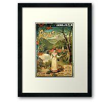 Gustave Fraipont Affiche PLM Royat Framed Print