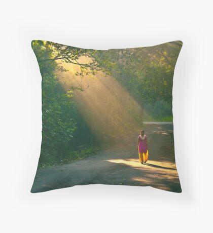 spot light of the forest!! Throw Pillow