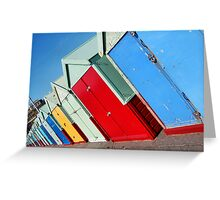 Beach Huts in Hove Greeting Card